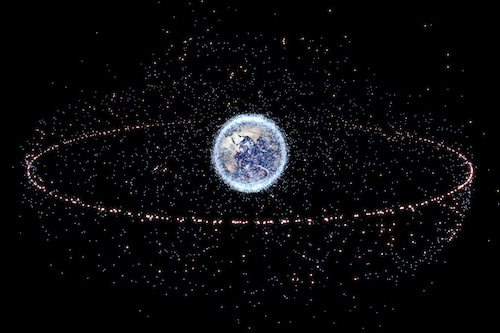 Space debris orbiting the earth poses a threat to safe space travel.