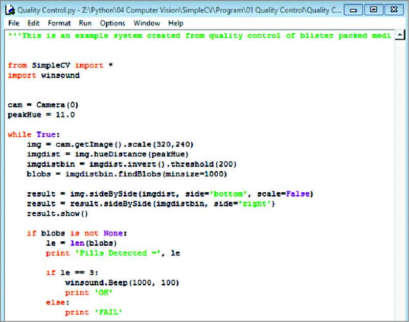 Computer Vision Based Quality Control Using Python