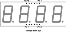 Pin out details of Seven Segment Display