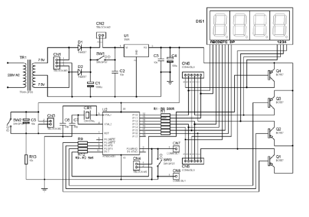 stopwatch using 7805 ic full project with source code rh electronicsforu com Sports Stopwatch Diagram digital stopwatch circuit diagram pdf