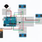 smart stick using arduino circuit diagram