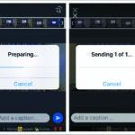 Compression process in mobile using WhatsApp