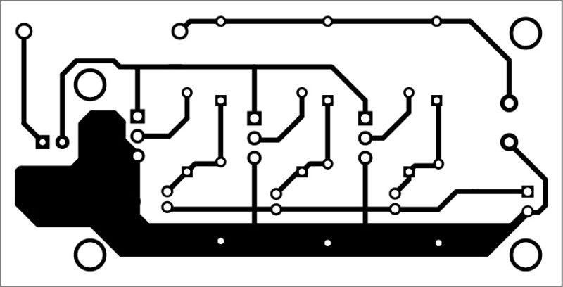 PCB layout of the Li-Fi dongle