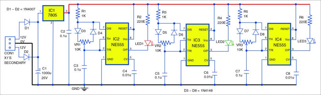 RGB Bulb Using 555 Timer | Detailed Project Available Rgb Led V Wiring Diagram on