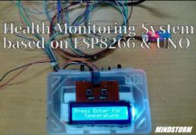 health monitoring system based on ESP8266