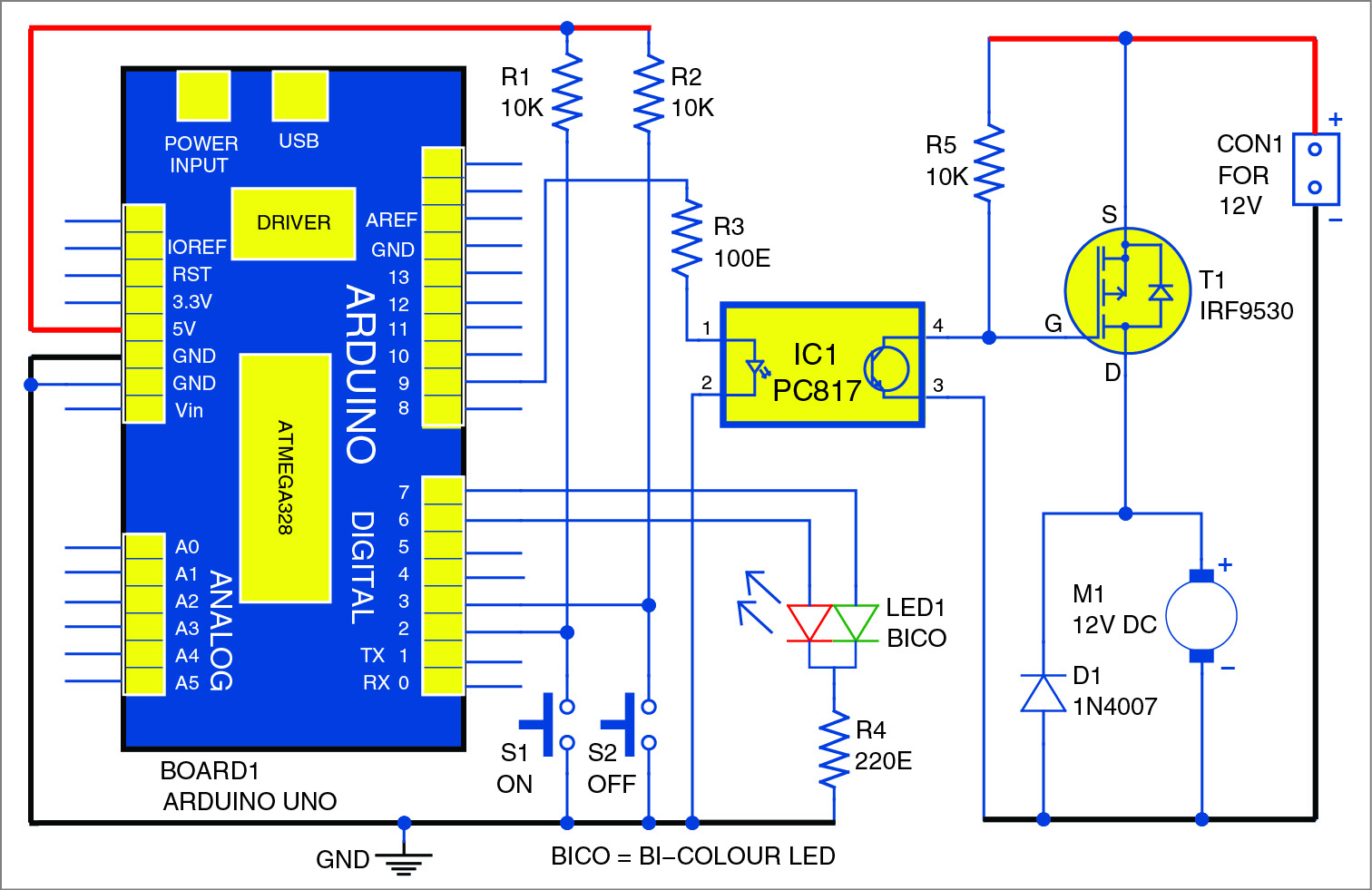 Dc Motor Starter Using Arduino Uno Full Project Available Design Of Temperature Controlled Pwm Boost Converter Circuit
