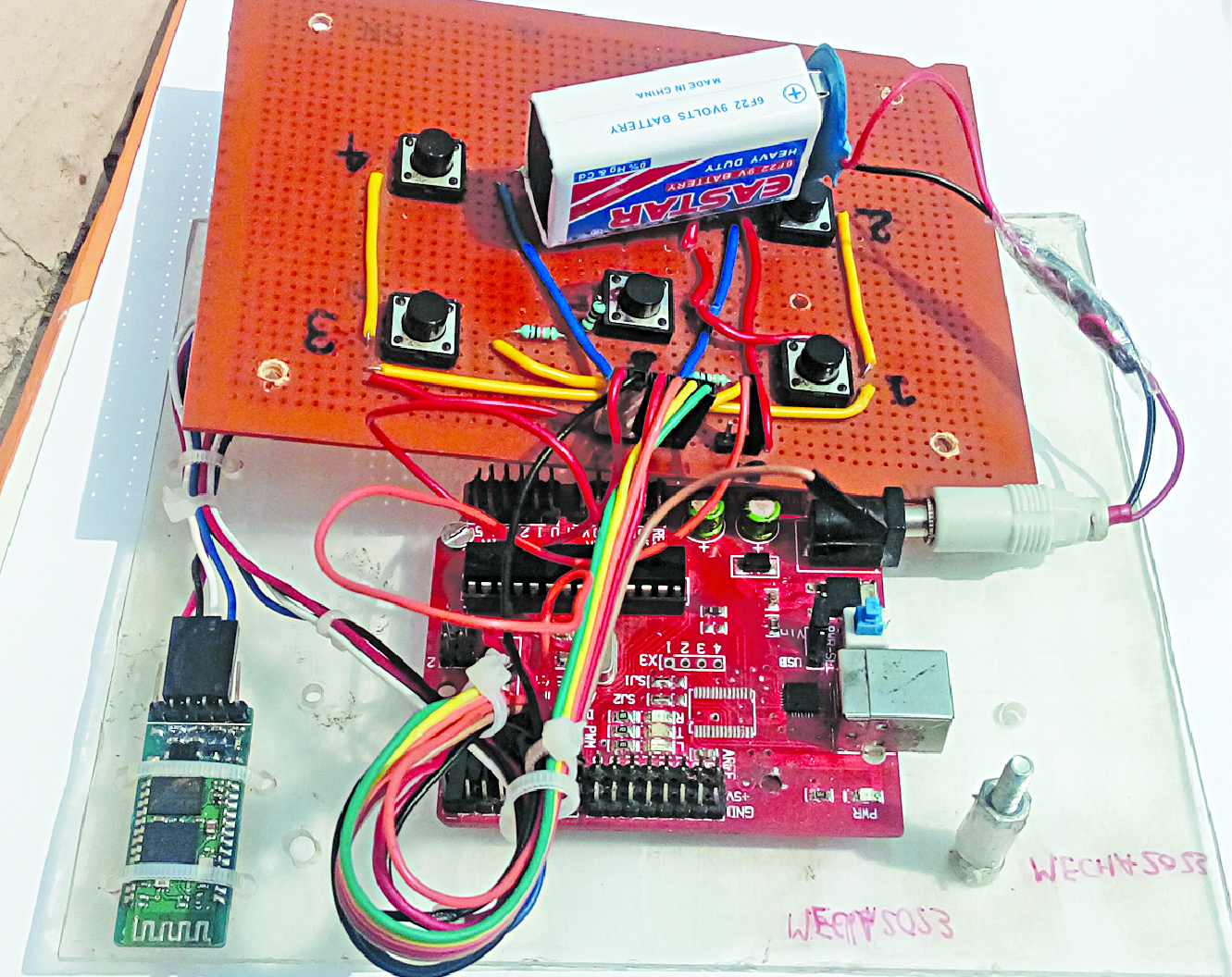 Password Protected Bluetooth Based Remote Control Project Key Digital Circuit Scheme Using A