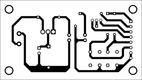 PCB layout of the DC motor soft-starter
