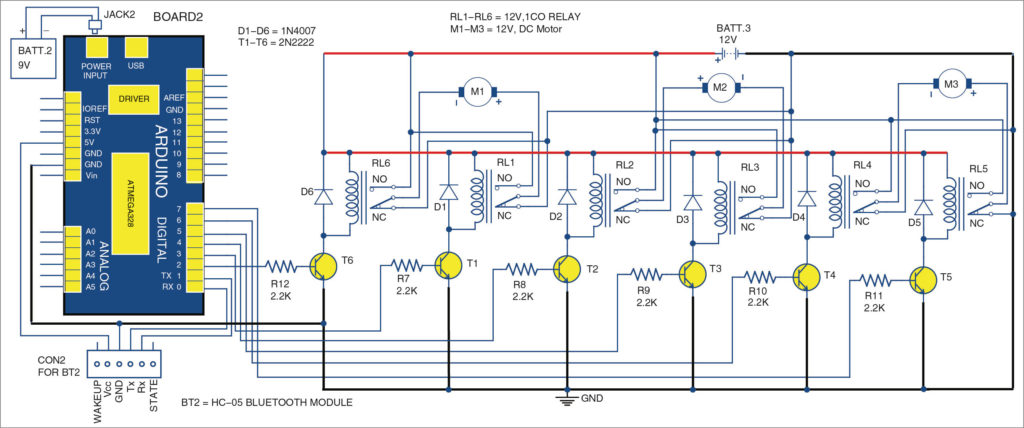 Bluetooth based remote control: receiver unit circuit