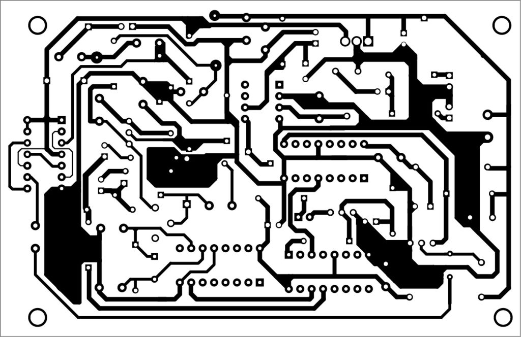 PCB layout of the high fidelity FM transmitter