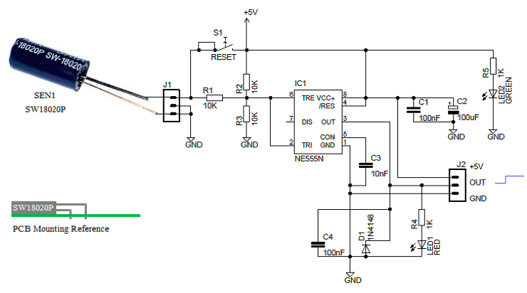 Midget Vibration Detector | Prototype Electronic Circuit Project
