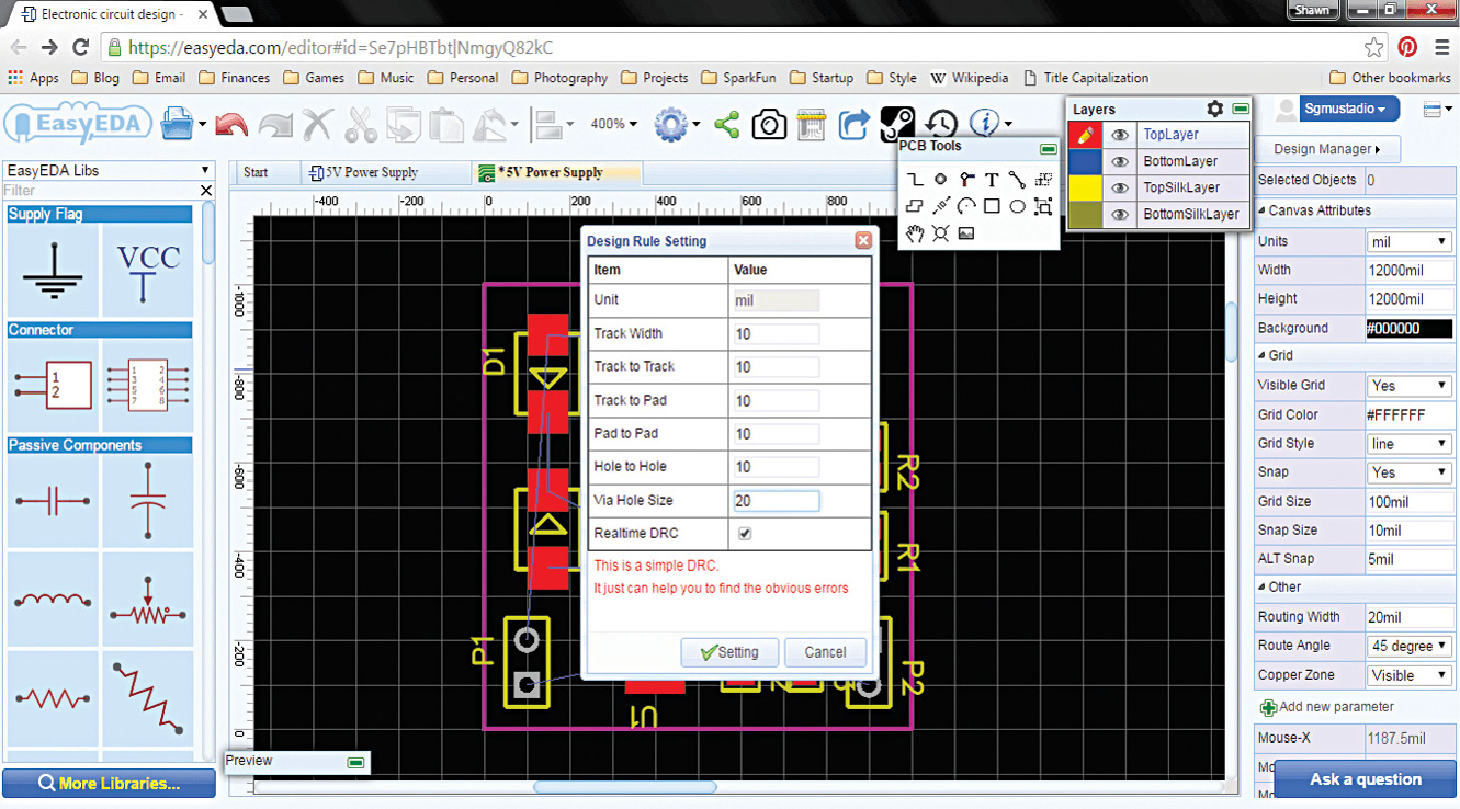 Easyeda 485 A Next Gen Pcb Layout Tool Software Review Design Build Electronic Circuits