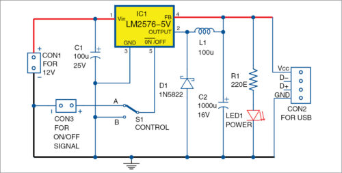 AddOn USB Power Circuit For UPS Detailed Circuit Diagram Available - Circuit Diagram Usb