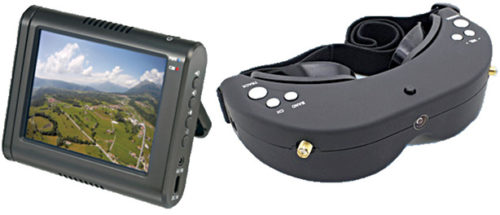 FPV video monitor and goggles