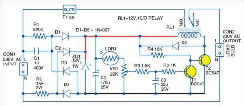 Circuit of the smart bulb holder