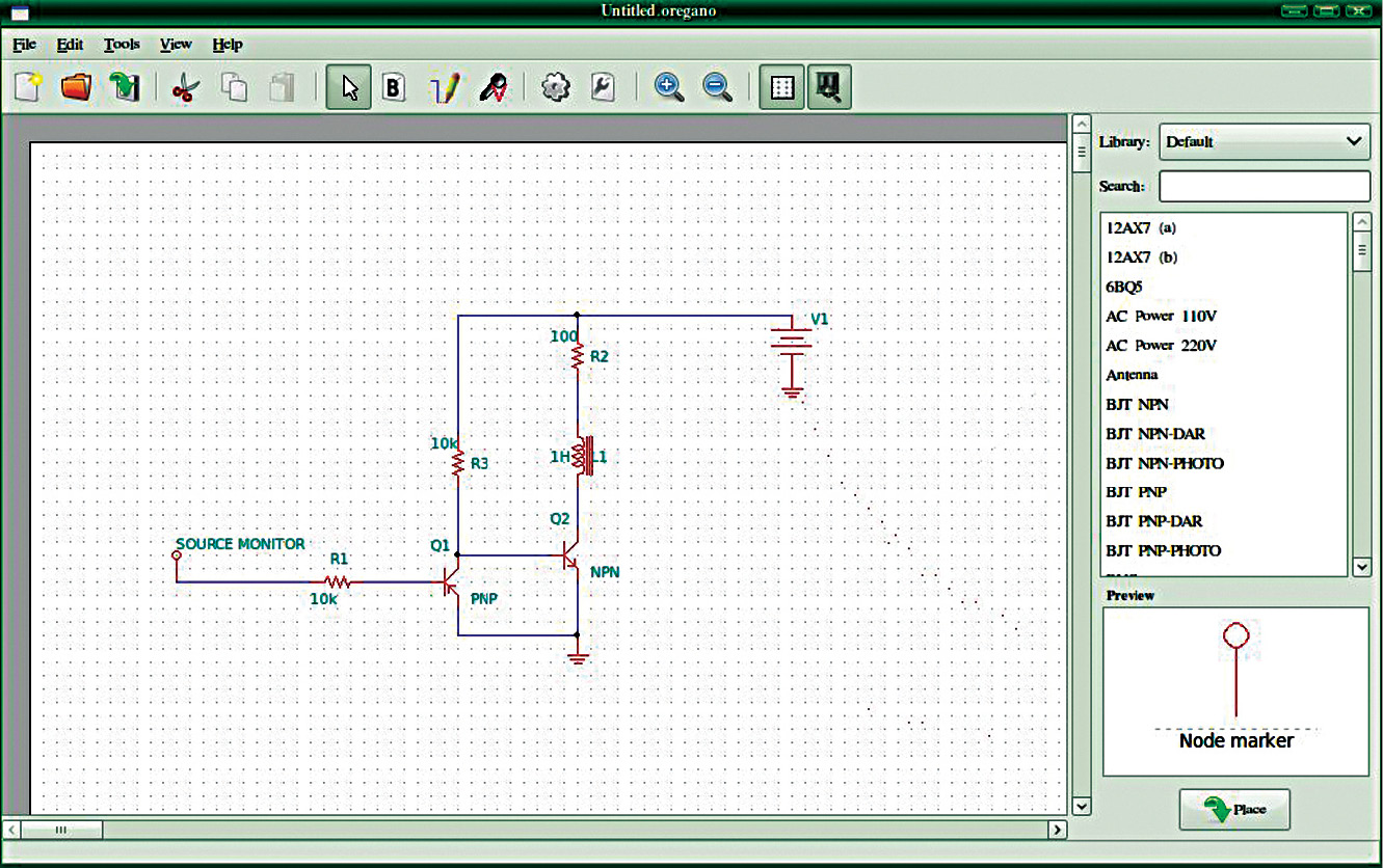 Download Oregano Free Linux Schematic Capture And Circuit