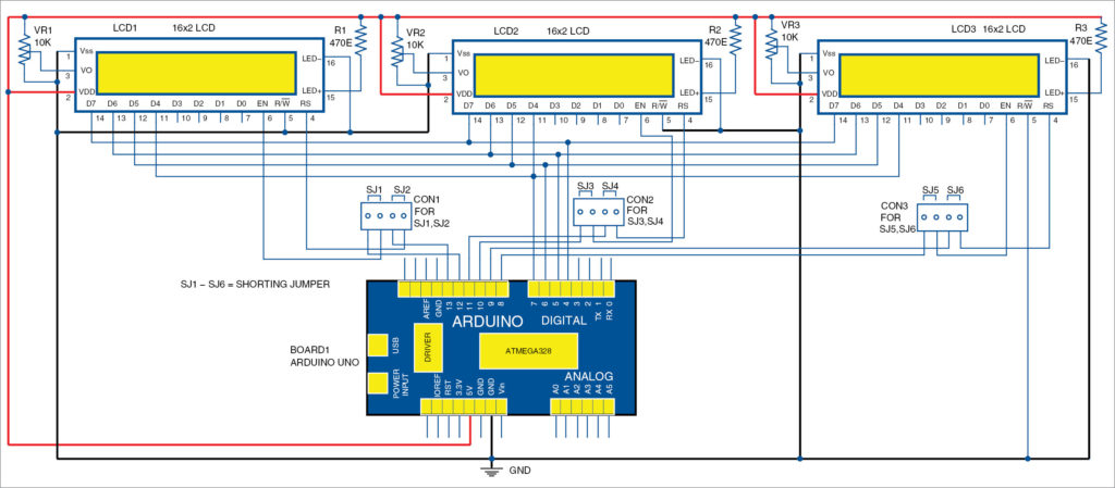 Interfacing multiple lcds with arduino full electronics project circuit diagram for interfacing of multiple lcds with arduino asfbconference2016 Choice Image