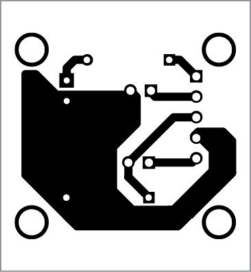 PCB layout of Arduino-based front office visitor alarm