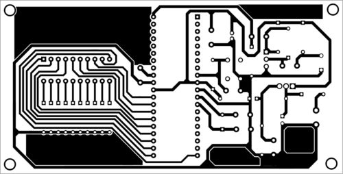 PCB layout of wireless VU meter