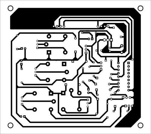 PCB layout of the receiver circuit