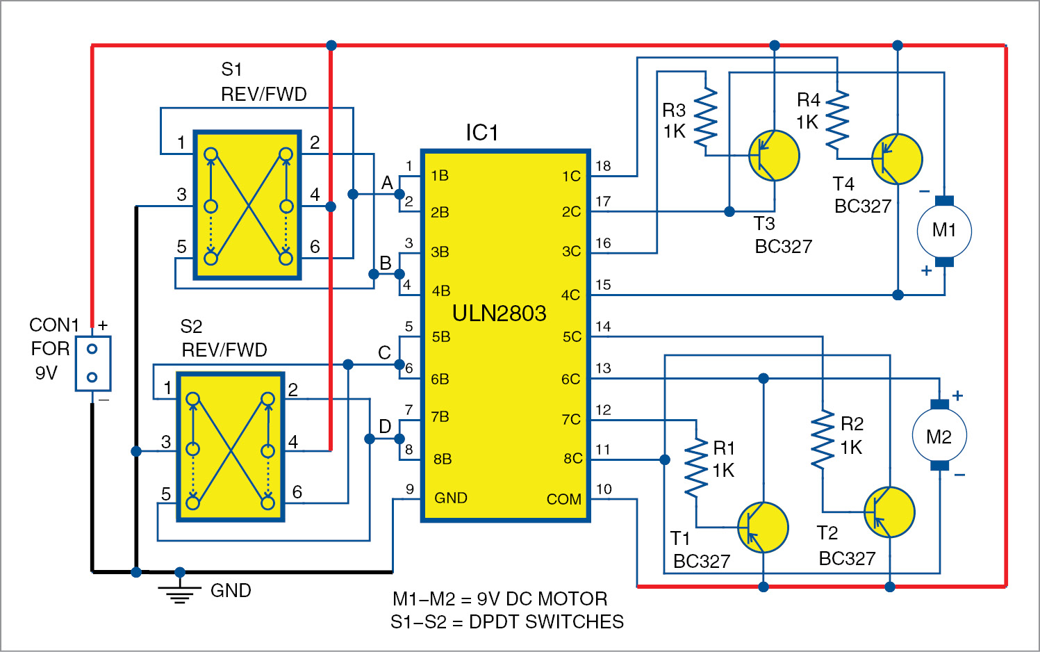 Uln2803 Based Motor Driver Circuit Full Electronics Project We Also Recommend The Other Dc Speed Control As