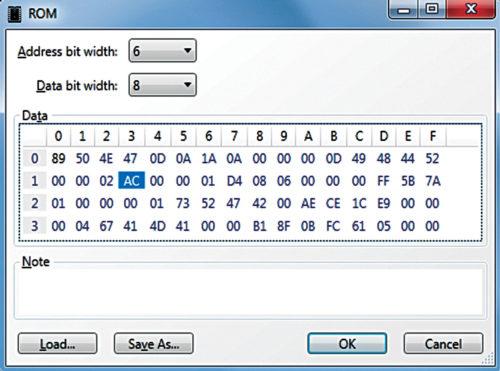 LogicCircuit ROM editor