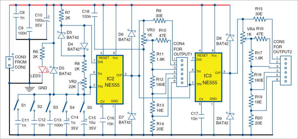 Signal generator and inverter using ne555 timers circuit diagram of signal generator asfbconference2016 Images