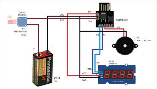Circuit of door-ajar alert system