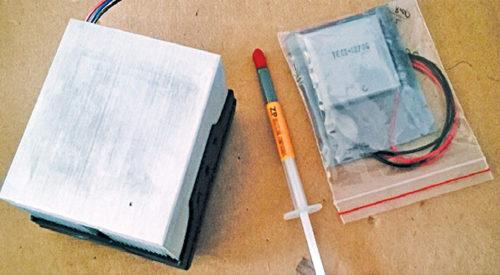 Key components for DIY Peltier cooler