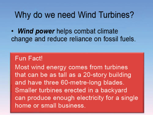 Why do we need wind turbines?