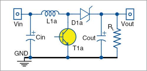 Boost switching regulator circuit