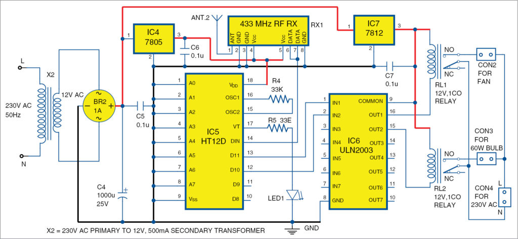Circuit diagram of the receiver