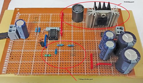 Author's prototype for HVDC power supply design