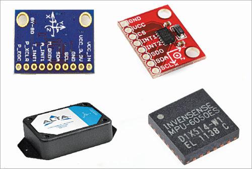 Various types of accelerometer sensors