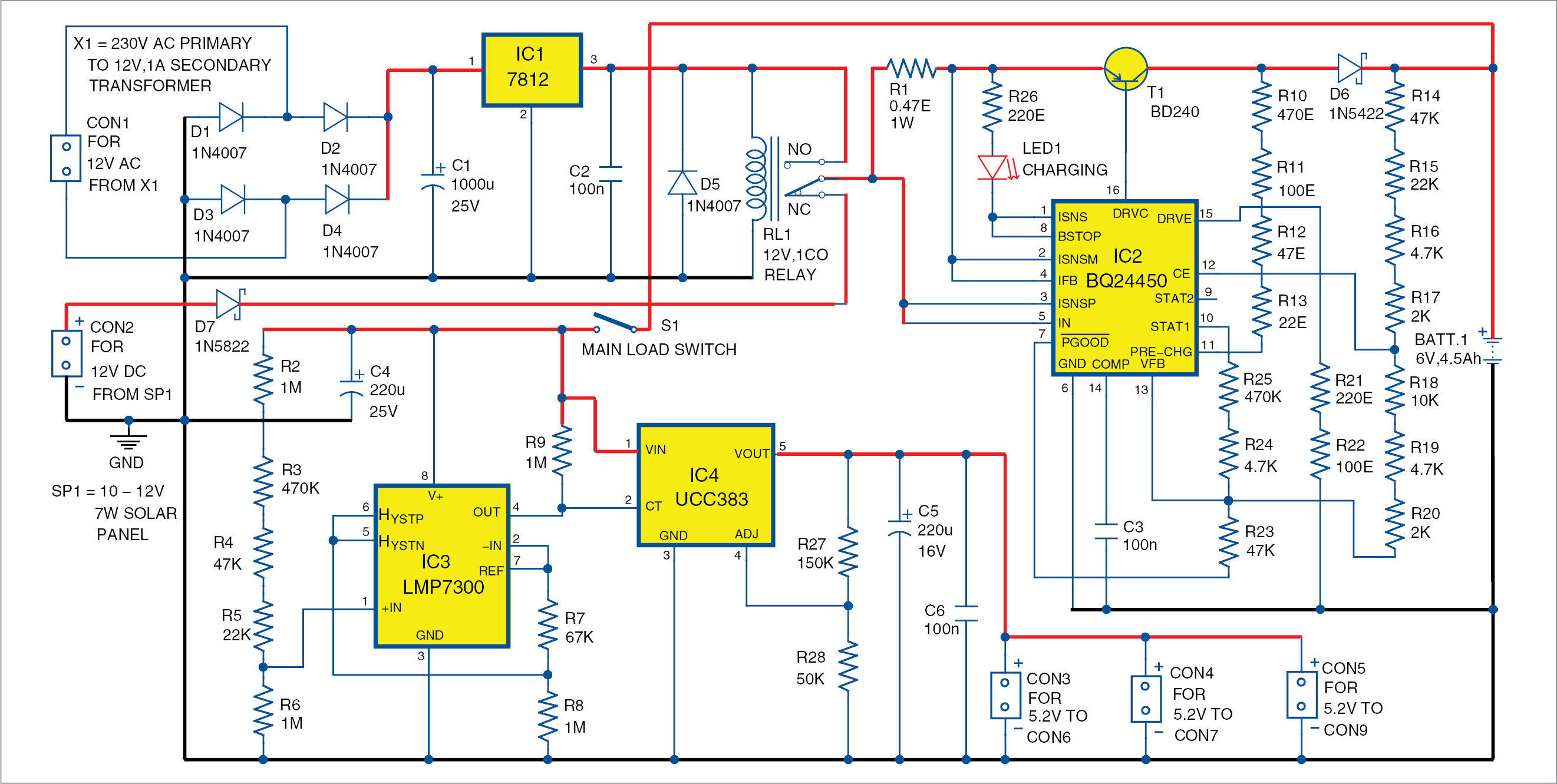 Multifunction Rechargeable Digital Clock Detailed Electronics Project Circuit Diagram With 7 Segment Display Engineering