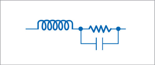 Equivalent circuit for a resistor at high frequency