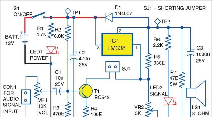 Voltage Regulator as Audio Amplifier