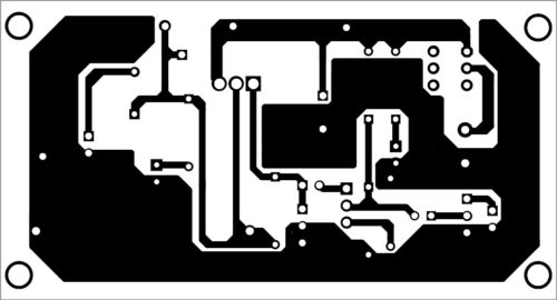 PCB layout of the voltage regulator as audio amplifier