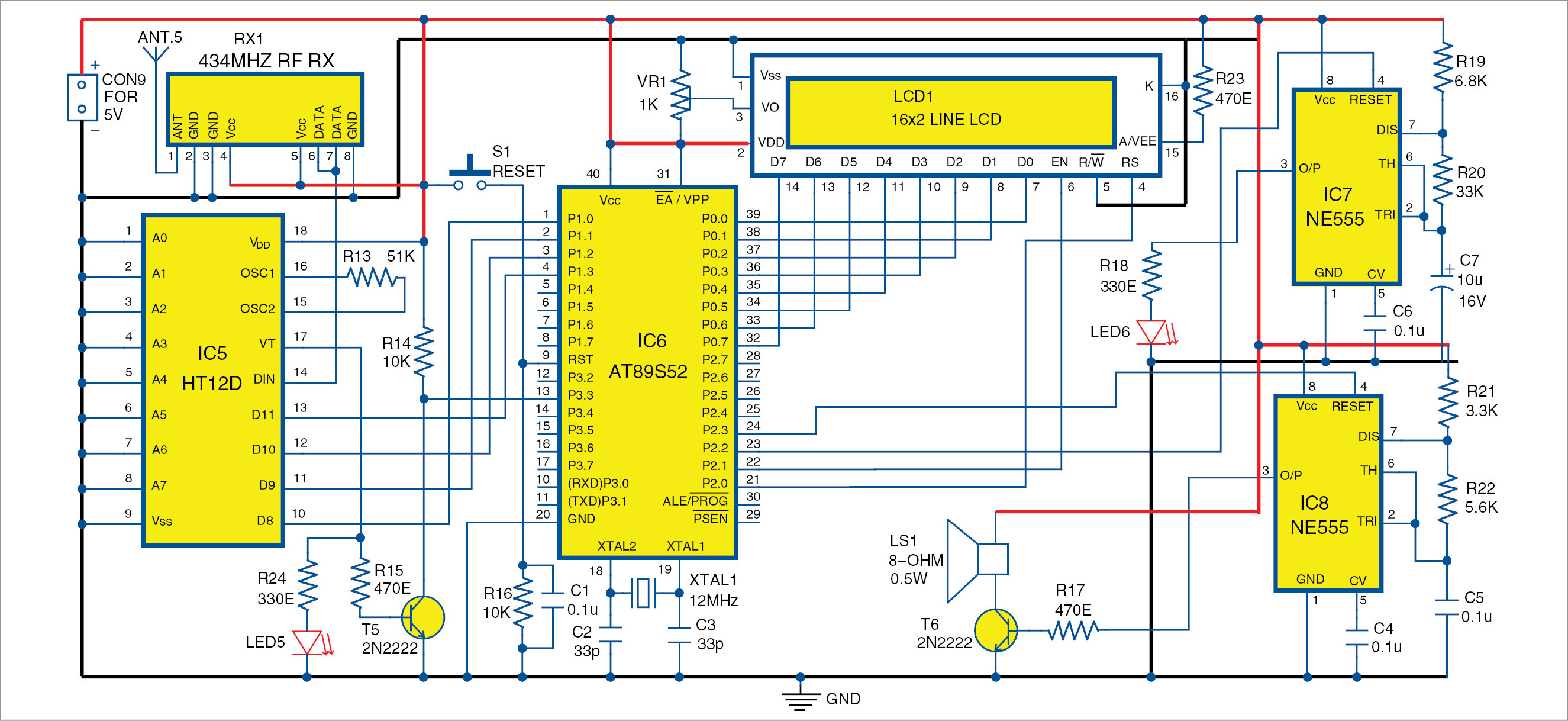 Wireless Security System Using Pir Sensors Full Electronics Project Humidity Sensor Circuit Diagram