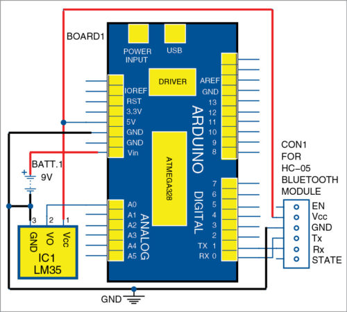 Temperature Monitoring On Smartphone Full Electronics Project