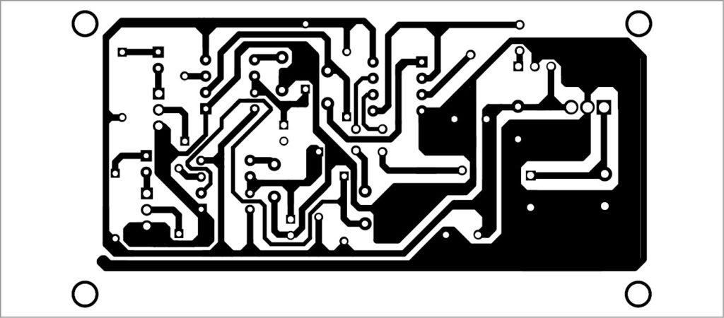 PCB layout of bike turning signal system - Bike turn indicator
