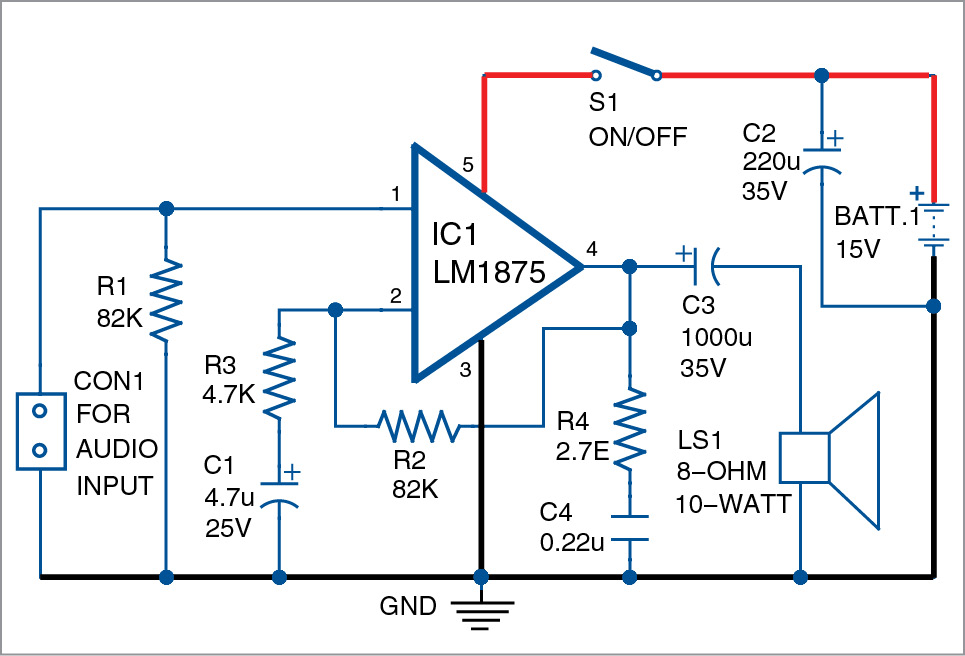 Miniature Audio Amplifier Circuitcircuit Diagram World - Wiring