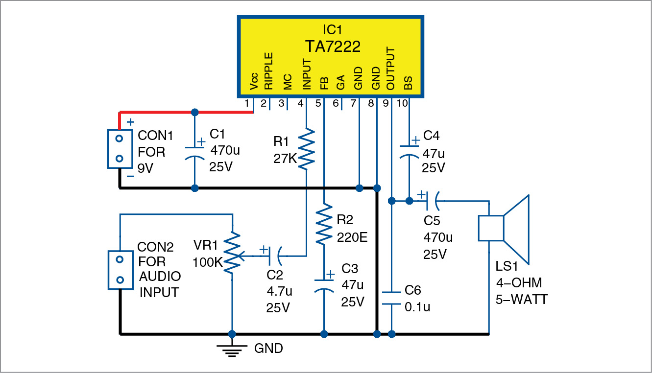 Circuit Diagram Of Amplifier - Wiring Diagram Content
