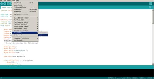 COM port of Arduino