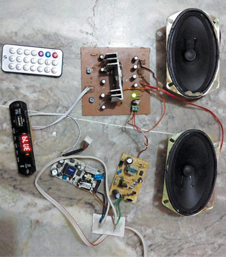 Two-Channel Wireless Audio Amplifier Using Bluetooth and
