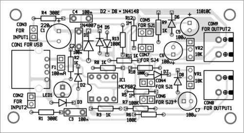 Components layout for PCB