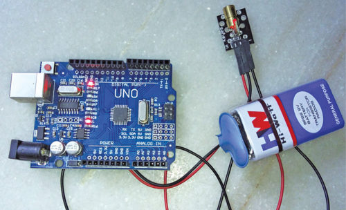 Interfacing a KY-008 Laser LED module with Arduino | Full