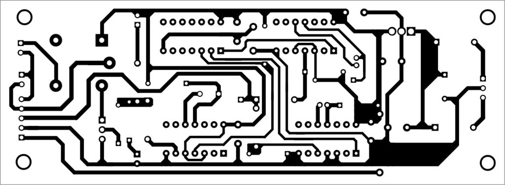 PCB layout of the programmable automatic bell system