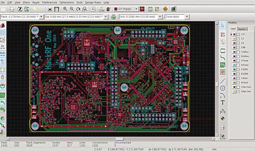PcbNew interface (Credit: kicad-pcb.org)