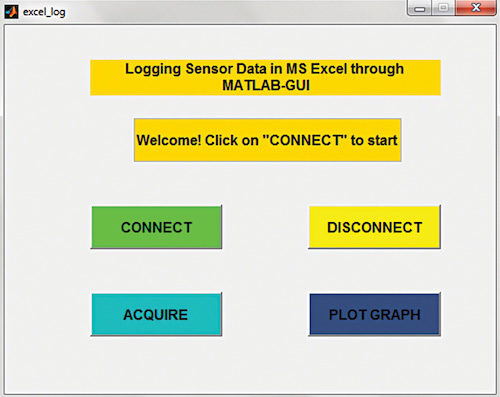 Logging Sensor Data in MS EXCEL through MATLAB GUI | Software DIY
